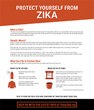 Protect Yourself from Zika Fact Sheet Thumbnail